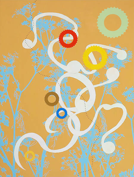 Catalyst, 2009, acrylic on wood, 48 3/4 x 36 3/4 inches