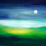 Moonrise - Oil on painting paper